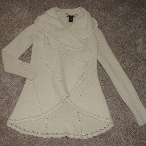 Lucky Brand Ivory Wrap Cardigan Sweater